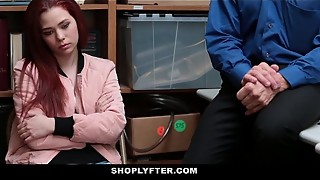 Shoplyfter - Teenager De-robe Searched &amp_ Screwed by Creepy Stud