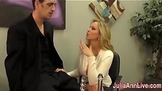 Beautiful Cougar Julia Ann Wanks Him on Rendezvous Night!