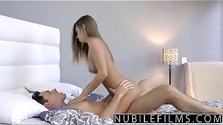 NubileFilms - Cock-squeezing Coed Smashes And Guzzles