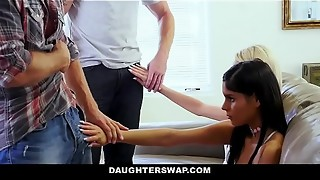 DaughterSwap - Sizzling Daughters-in-law Transfixed By Dads