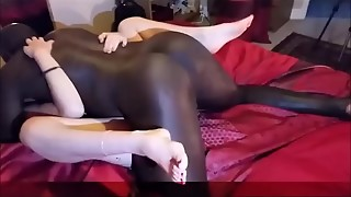 Homemade spouse films wifey with dark-hued