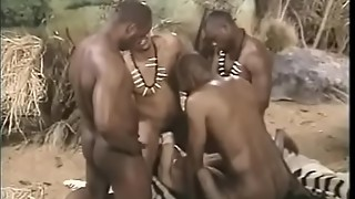 Brit stunner group-fucked by indian folks