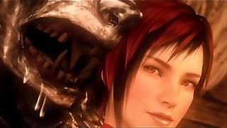 Mila Crimson Railing Fetish mask