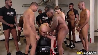 Big black cock Ass fucking Gang-bang And Double penetration With Jennifer Milky