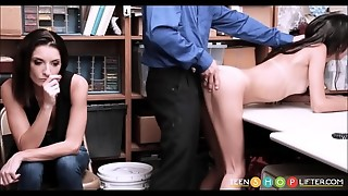 Lean Teenage Latina Shoplifter And Her Mother