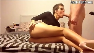 Rectal Bang-out With Brief Haired Wonderful German Doll