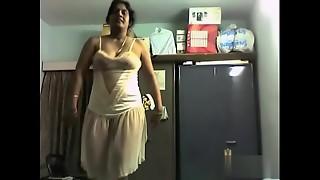 Desi Mommy Naked Dance at Bedroom