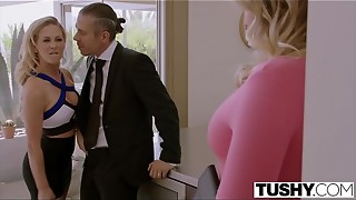 TUSHY Blair Williams Has A Steamy Ass-fuck Lesson 3 way With Her Manager