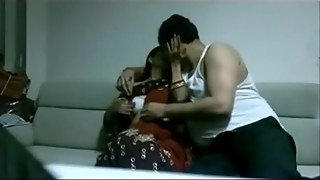 Indian desi wifey in saree boning Hubby in palace
