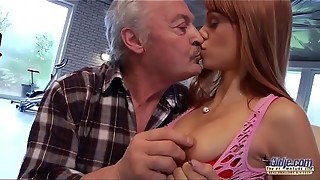 Senior Guy Falls In Enjoy With Mind-blowing Youthful Ginger-haired and Nails Her Honeypot