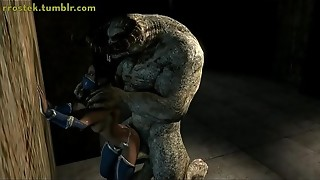 cassie cell and sonya banged by monsters