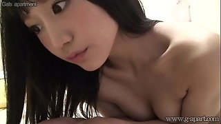 Asian nubile bare in front of camera intimate life