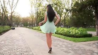 See-through garb and high stilettos