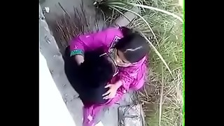 Bangladeshi Female with her beau penetrating outdoor