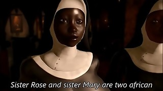 priest and african nun hoes