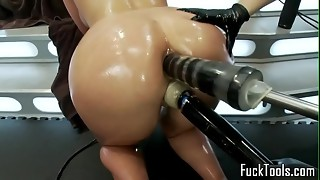 Puss slurping lezzies knuckle and plaything snatch