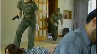 Chinese wifey attacked by soldiers