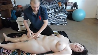 Big-titted Teenager With Meaty Butt Gets Fabulous Lube Rubdown