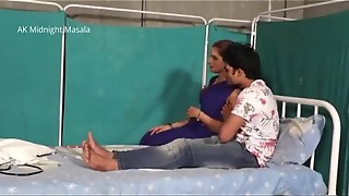 Hindi Chick physician Shruti bhabhi romance with patient fellow in blue saree steamy sequence