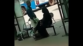 Desi Hand-job at Bus Stand Spycam