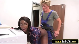 Frustrated Dark-hued Housewife Banged By Perverted Handyman - Jai James