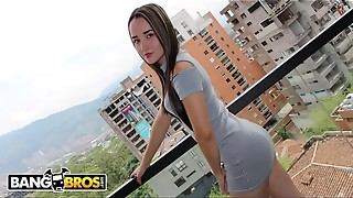 BANGBROS - Youthfull Colombian Amateur, Valeria, Wants To Be A Pornographic star