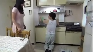 Lovely Asian damsel bangs the plumber