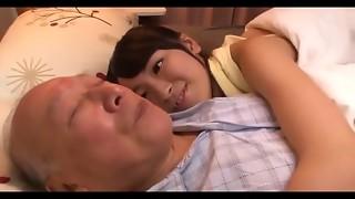 A fresh schoolgirl for granddad shigeo