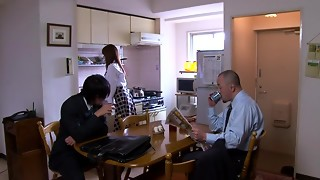 Akiho Yoshizawa in Bride Porked by her Daddy in Law part 2.1