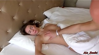 SLEEPING Hotty WAKES UP FROM THE Spunk-pump IN HER MOUTH. MIA BANDINI