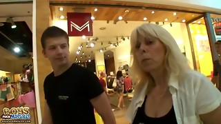 Married platinum-blonde cheats on her husband