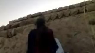 Pakistani Village Female Poking Lurking Against Wall