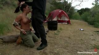 Chesty Camper gets a Surprise Internal cumshot
