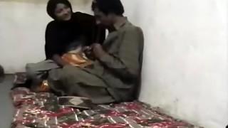 Pakistani Pair having romp in their village