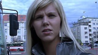 czech streets - ilona takes cash for public lovemaking