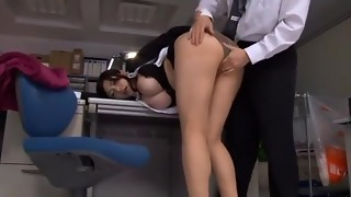 Mischievous Asian model Anri Okita in Unbelievable Gigantic Tits, Assistant JAV clamp