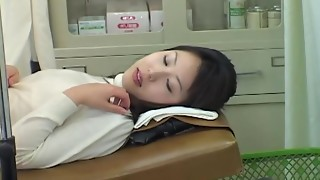 Highly lovely Japanese stunner gets a sloppy Gynecology check-up with a plaything