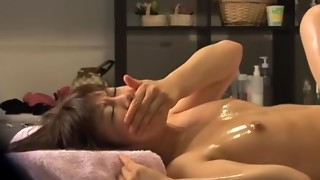 Superb Asian hookup caught by a spycam in rubdown apartment