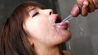 Megumi Morita gasps while eng - More at Slurpjp.com