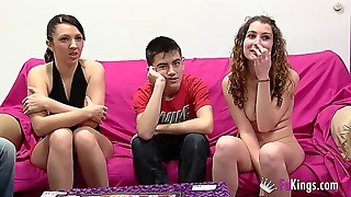 highly youthfull spanish couples have fun a sexgame and proceed to romp