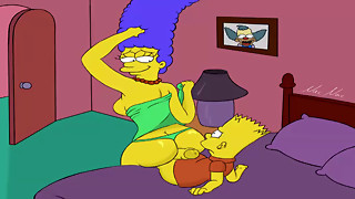 Toon Porno Simpsons pornography Marge bang his son-in-law Bart