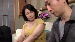 Chinese granny Miyamae Nami nailed rock hard