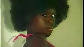 Dark-hued Teenager Plays with Her Gigantic Huge Bosoms