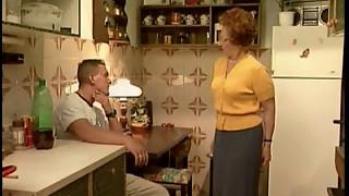 GERMAN Grandmother Boinks IN KITCHEN