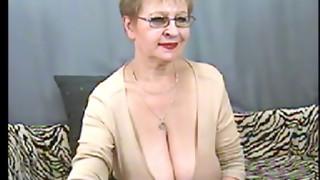 super-steamy mature grandmother on web cam