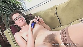 gross damsel with ginormous unshaved honeypot