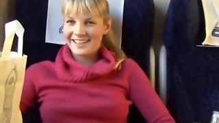 Towheaded Veronika bang-out on teach