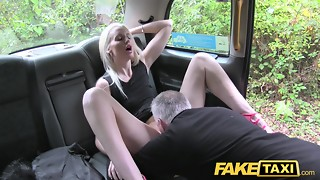 Faux Cab Ultra-kinky platinum-blonde banged in the donk on cab bonnet