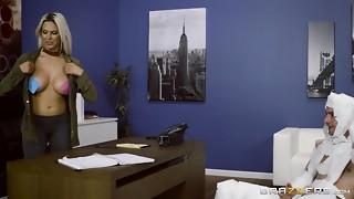 Rachel Roxxx has joy at the office costume soiree - Brazzers
