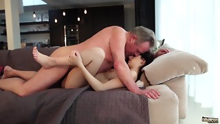 Aged and Youthful Porno - Tasty virginal gf gets nailed by grandfather